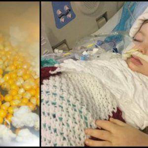 3-Річна дівчинка проковтнула не розкрилися зерно попкорну, через півроку лікарі сказали, що її потрібно відключати від апарату життєзабезпечення