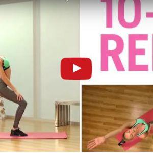 Пілатес - розтягуємо м`язи стегна / вправи на розтяжку (в положенні лежачи)