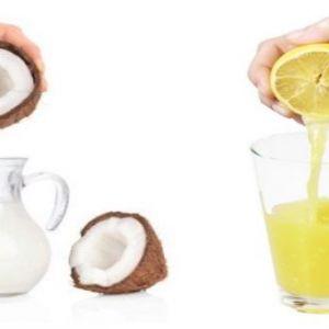 Постійне випрямлення волосся за допомогою кокосового молока і лимоном