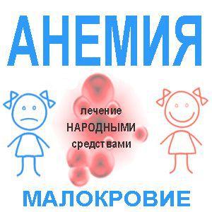 Лікування анемії народними засобами