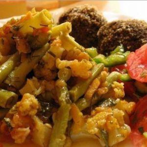Легка вечеря - цвітна капуста з гарбузом