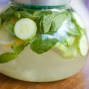 Напій з лимоном і огірком для схуднення