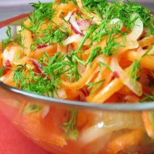 Низькокалорійний овочевий салат для схуднення