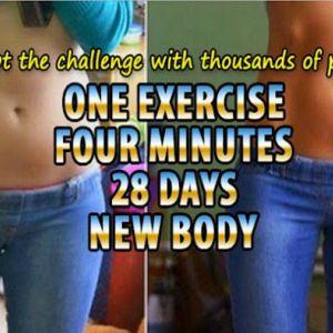 Одна вправа, чотири хвилини, 28 днів: нове тіло!