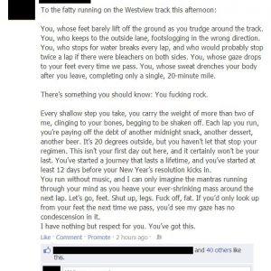 Він писав цей текст, щоб познущатися над товстункою. Те, що сталося потім, і правда шокує.
