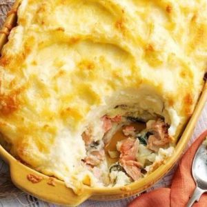 Правильний дієтичний обід: картопляно-рибна запіканка