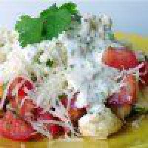 Салат з цвітної капусти з помідорами