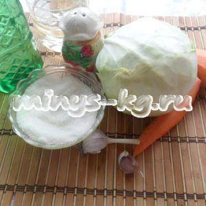 Салат зі свіжої капусти з оцтом, смачно і низкокалорийно