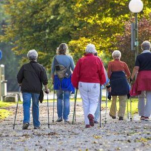 Скандинавська ходьба з палицями для літніх