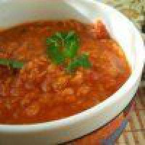 Суп з червоної сочевиці з каррі