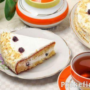 Торт сметанник - класичний рецепт з фото покроково на кефірі