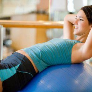 Тренування на фітбол для м`язів спини