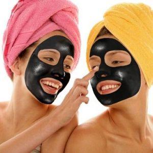 Вугільна маска для обличчя із заспокійливим і витягають ефектом