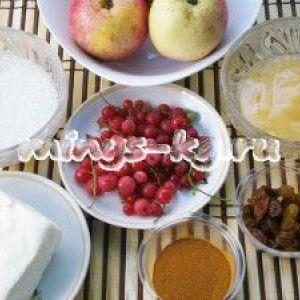 Запечені яблука з сиром і медом, рецепт з фото